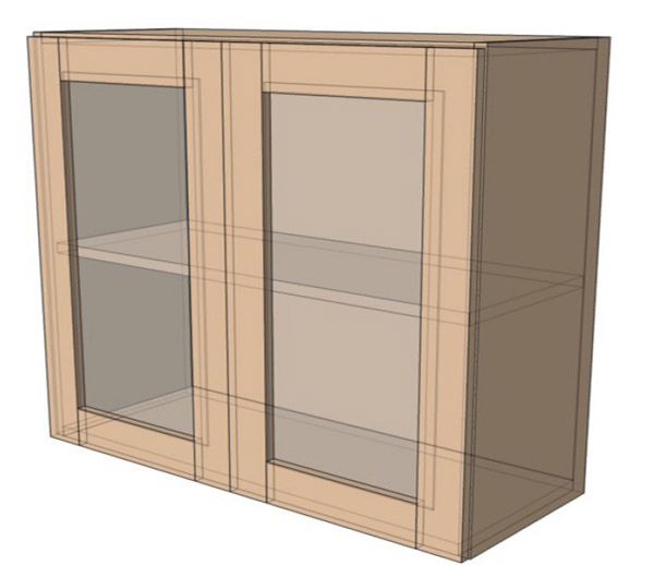 Навесной Шкаф 100Верх витрина (1000х718)