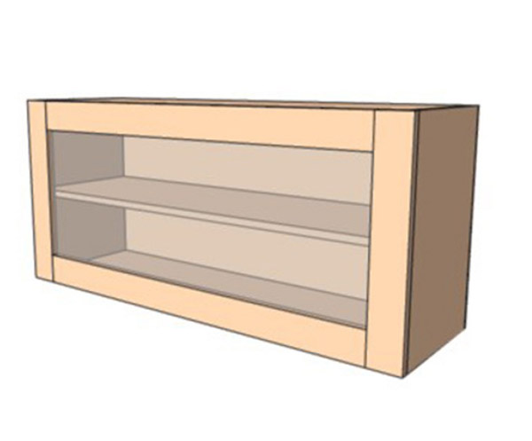 Навесной Шкаф 100Верх витрина /450 (1000х450)