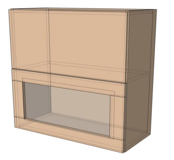Навесной Шкаф 100Верх витрина м (1000х718)