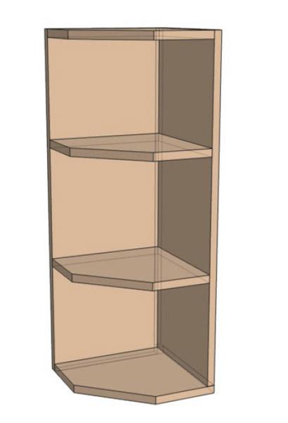 Навесной Шкаф открытый 30 Верх окончание (300х718)