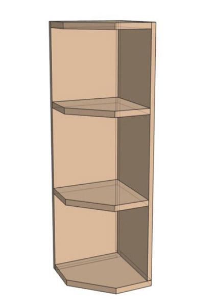 Навесной Шкаф открытый 30 Верх окончание /925 (300х925)