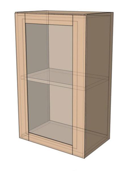 Навесной Шкаф 40ВерхВитрина (400х718)
