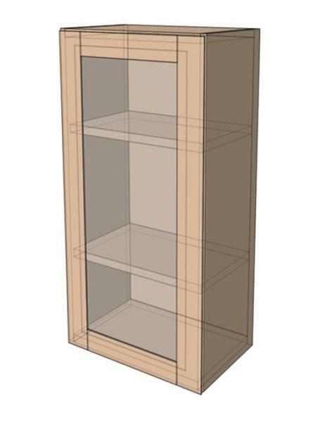 Навесной Шкаф 40ВерхВитрина/925 (400х925)