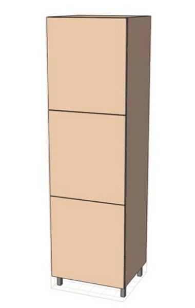 Нижняя тумба 60 низ пенал В (600х2070)