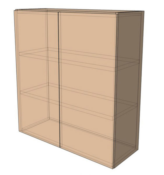 Навесной Шкаф 60Верх (600х718)