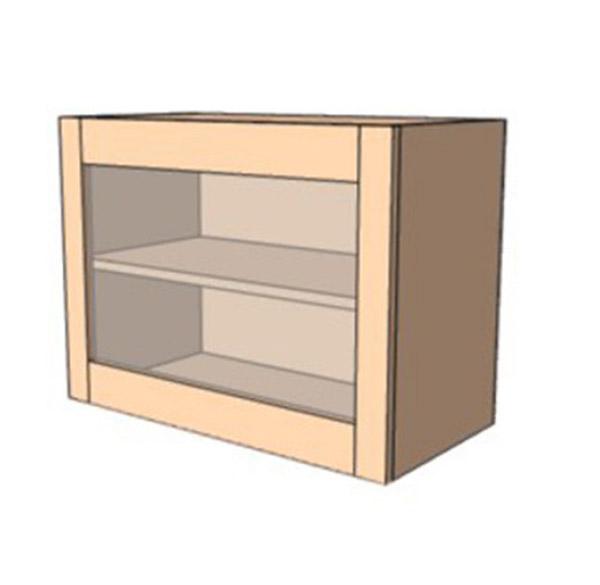 Навесной Шкаф 60Верх витрина /450 (600х450)