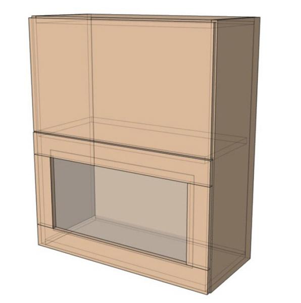 Навесной Шкаф 60Верх витрина м(600х718)