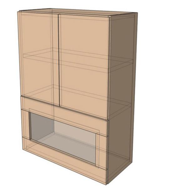 Навесной Шкаф 60Верх витрина м/925 (600х925)