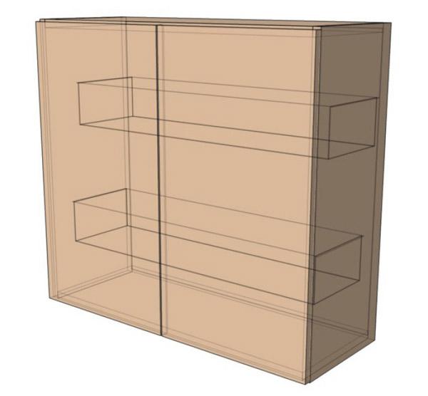 Навесной Шкаф 80Верх сушка(800х718)