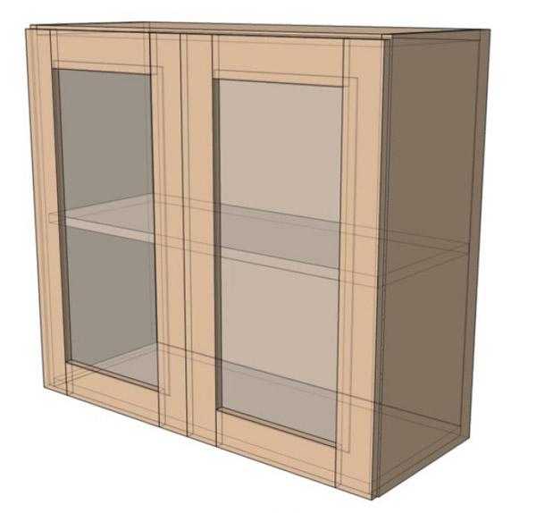 Навесной Шкаф 80Верх витрина (800х718)