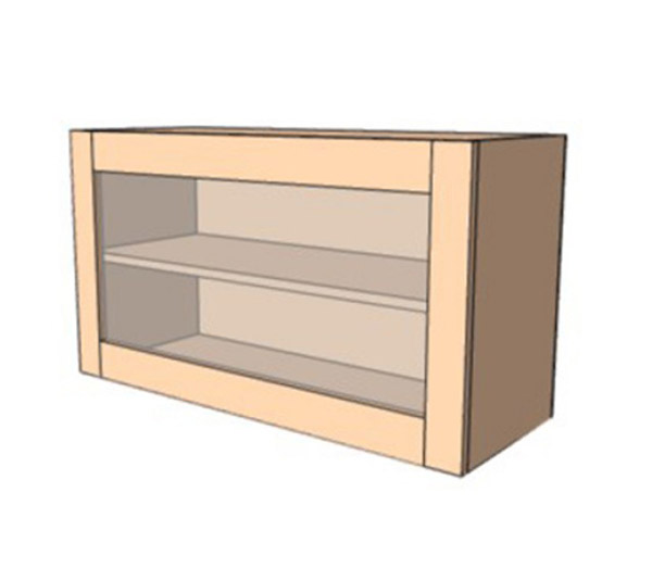 Навесной Шкаф 80Верх витрина /450 (800х450)