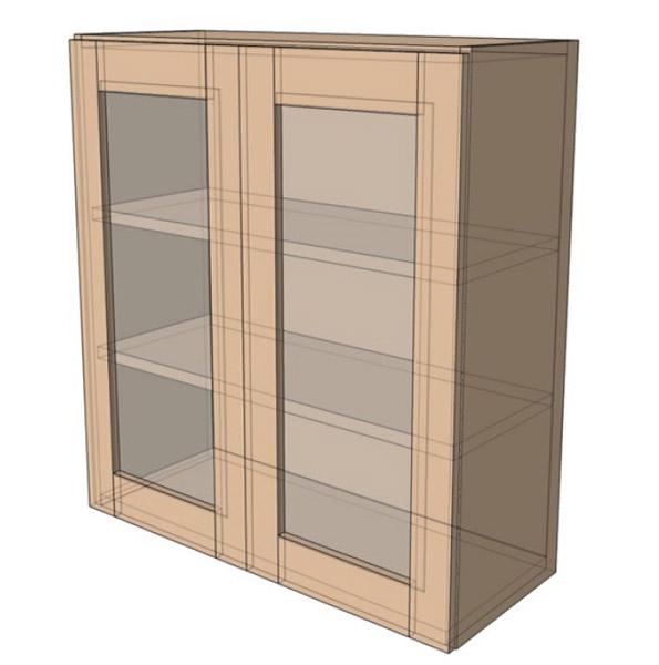 Навесной Шкаф 80Верх витрина /925 (800х925)