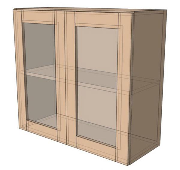 Навесной Шкаф 80Верх витрина сушка (800х718)
