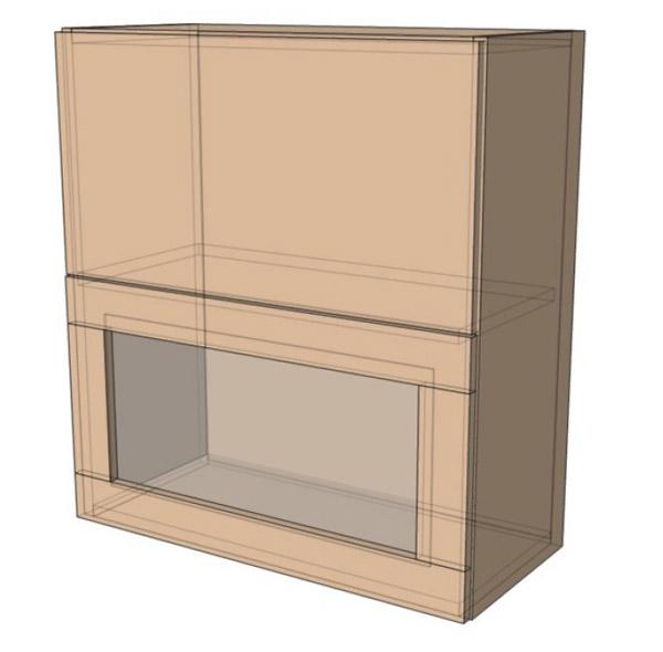 Навесной Шкаф 80Верх витрина сушка м (800х718)