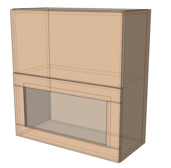 Навесной Шкаф 80Верх витрина м(800х718)
