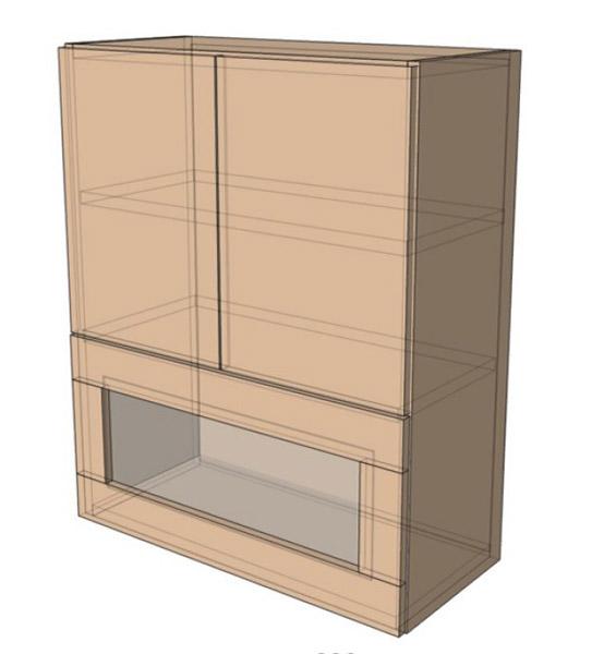 Навесной Шкаф 80Верх витрина м/925 (800х925)